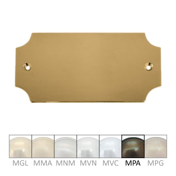 Namensschild Messing MPA 100 x 45 mm Serie NS006 Bild1