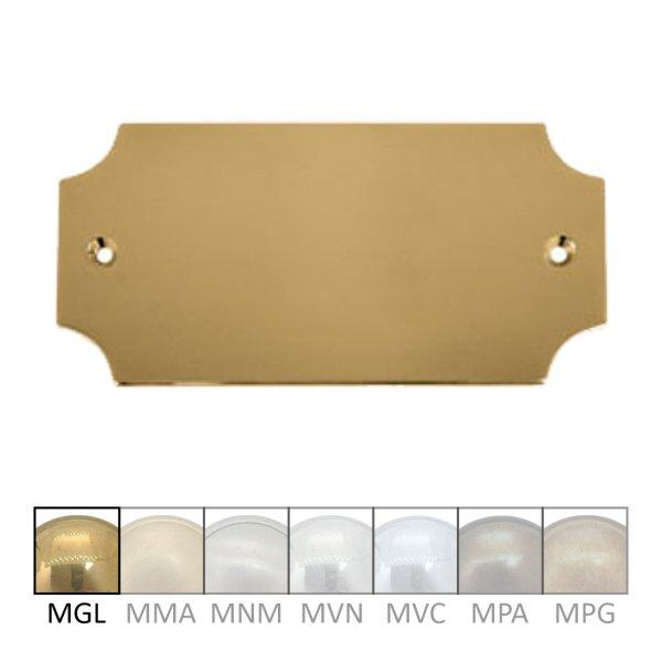 Namensschild Messing MGL 100 x 45 mm Serie NS006 Bild1
