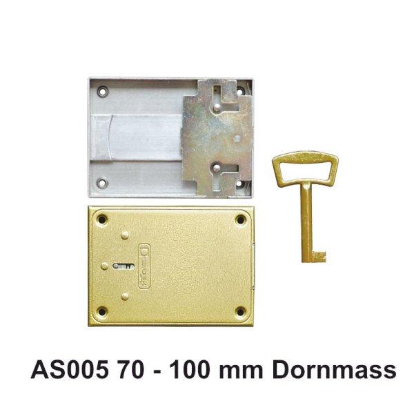 Aufschraubschloss aus Eisen, Dornmaß 70 - 100 mm der Serie AS005 Bild1