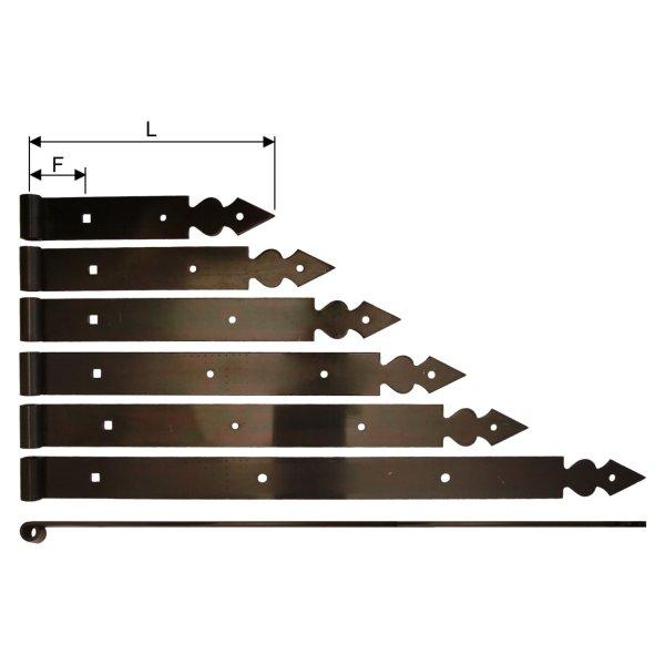 Langband, gerade, L=400, Dorn 10 mm der Serie FB001 Bild1
