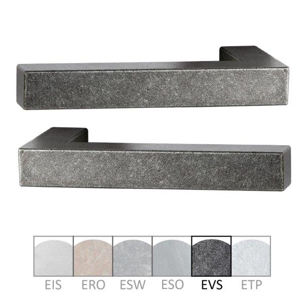 Türdrücker - Paar TD050 Eisen schwarz passiviert Grifflänge:125 mm inkl. Zubehör Bild1