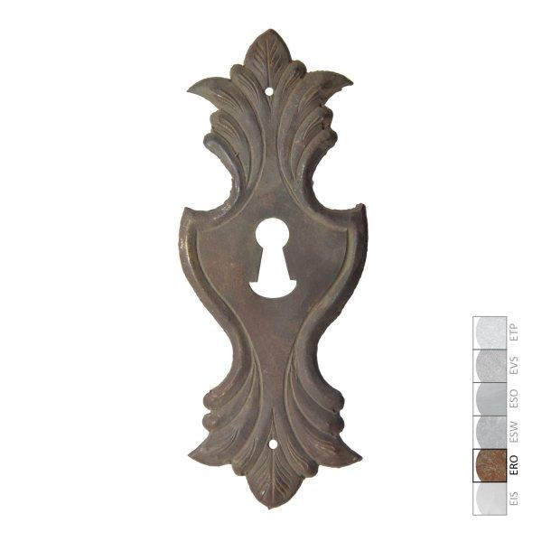 Schlüsselschild in Eisen rostig. 60x160 mm Bild1