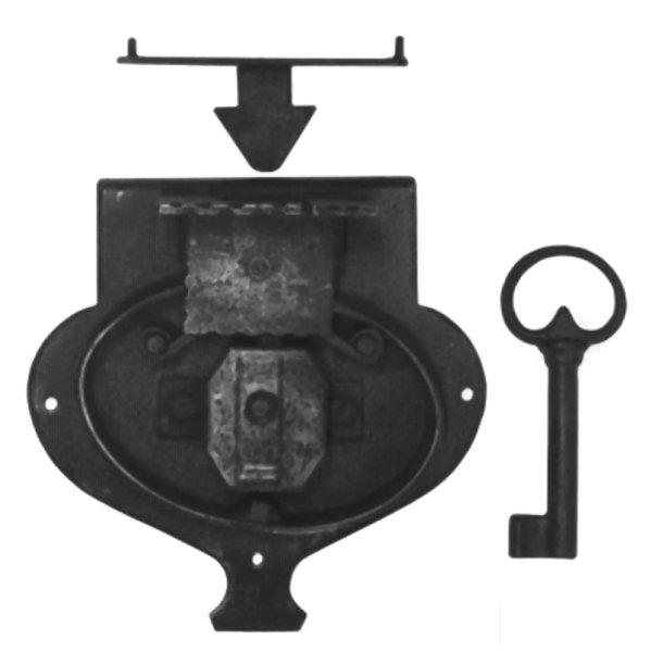 Aufschraubschloss aus Eisen, D 60 - 140 mm der Serie AS105 Bild1