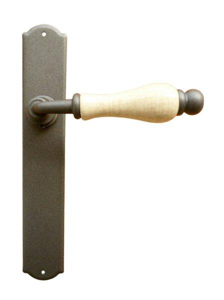 Zimmertürgarnitur in Eisen grau (BL). 240x40 mm Bild1