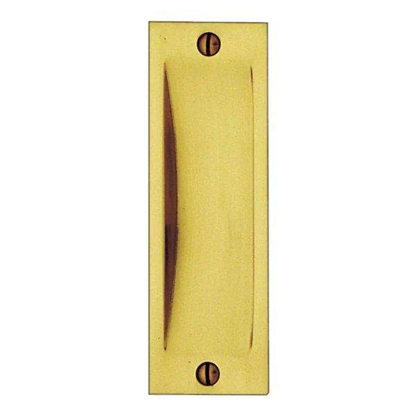 Schiebetürgriffmuschel Material: Messing Erläuterungen: Messingguss Hohe x Breite: 120 mm x 40 mm Materialstärke ( Auflage ): 2 mm Einbautiefe: 9 mm Gesamtauflage: 11 mm Diesen Artikel können Sie auf Wunsch ebenfalls in verschiedenen Oberflächen-Ve