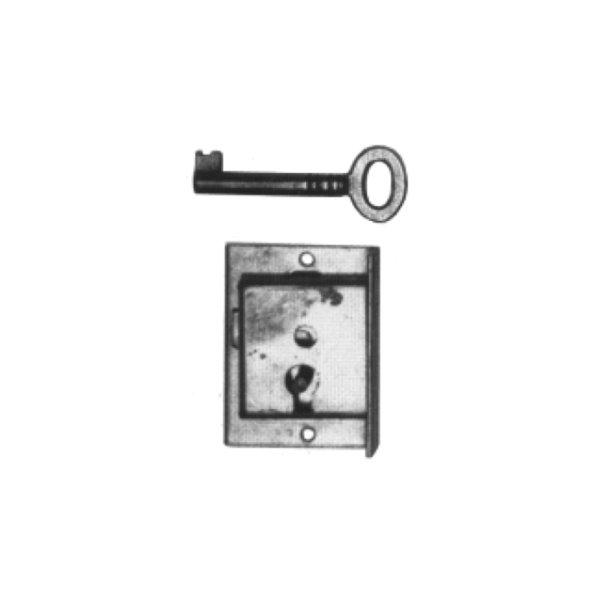 Einlassschloss aus Messing, D 10 - 18 mm der Serie EL007 Bild1