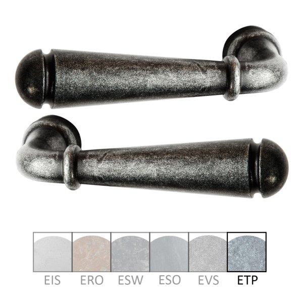Türdrücker Eisen thermopatiniert ®, 122 mm, Paar der Serie TD061 Bild1