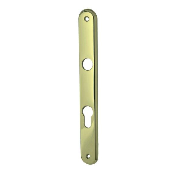 Wohnungseingangstürschild  in Messing glänzend mit Schutzlack . Modell Elegant Distanz: 72 mm Bild1