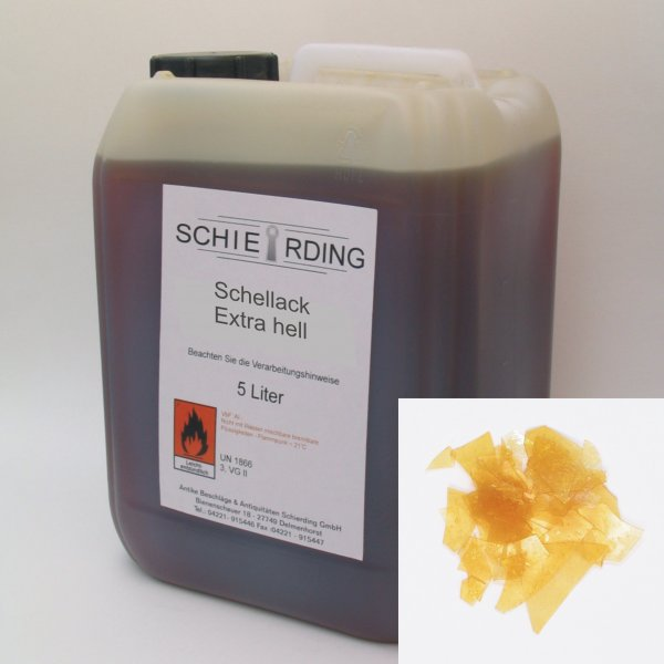 Gelöster Schellack extra hell, 5 Liter der Serie LA003 Bild1
