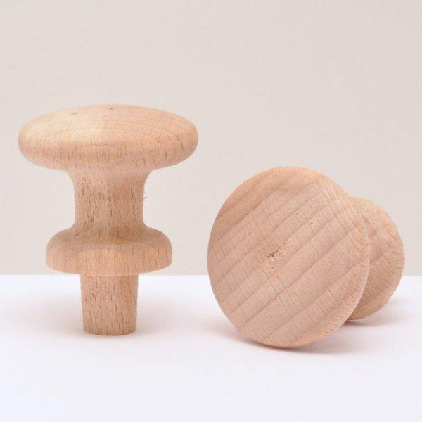 Holzknöpfe in Buche in verschiedenen Duchrmessern der Serie KN403 Bild1