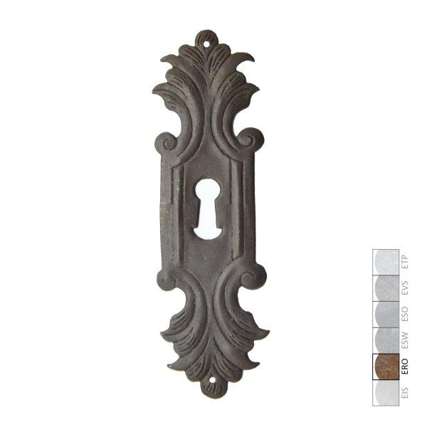 Schlüsselschild in Eisen rostig. 46x156 mm Bild1