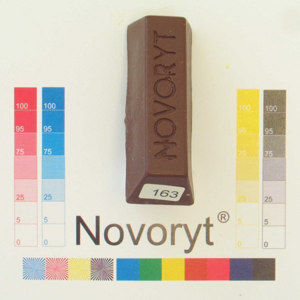 NOVORYT® Schmelzkitt - Farbe 163 Mahagonibra 1 Stange der Serie HW003 Bild1