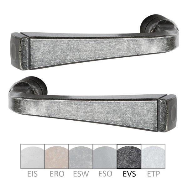 Türdrücker - Paar TD055 Eisen schwarz passiviert Grifflänge:120 mm inkl. Zubehör Bild1