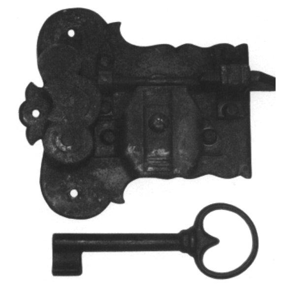 Aufschraubschloss aus Eisen, D 30 mm links, der Serie AS101 Bild1