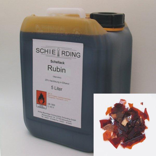 Gelöster Schellack rubin, 5 Liter der Serie LA003 Bild1