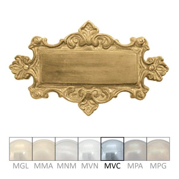 Namensschild für Gravur  Material: Messing  Maße: 175mm breit, 105mm hoch  Gravur auf Anfrage  Der Serie NS002  Bild1