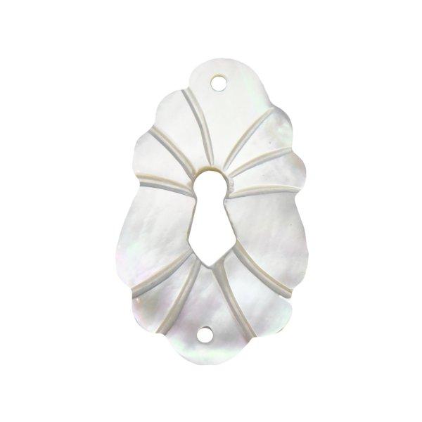 Möbelschild mit Schlüsselloch Perlmutt. 28x45 mm  Bild1