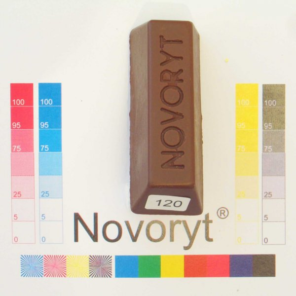 NOVORYT® Schmelzkitt - Farbe 120 Nußbraun 5 Stangen der Serie HW003 Bild1