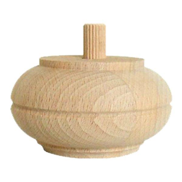Möbelfuß in unterschiedlichen Holzarten und Maßender Serie HF023 Bild1
