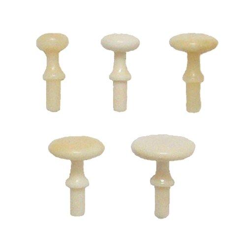 Möbelknopf aus weißem Bein der Serie KN050 Bild1