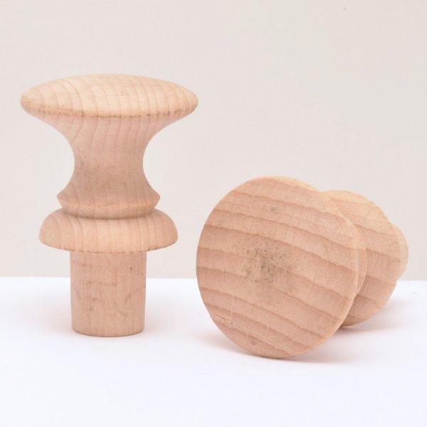 Holzknöpfe in Buche in verschiedenen Duchrmessern der Serie KN402 Bild1
