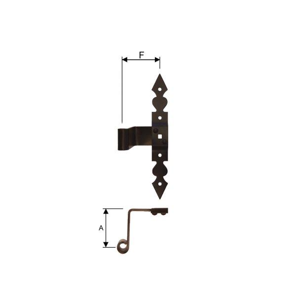 Kreuzband Zierband, negativ gekröpft 55mm, Dorn 10 mm der Serie FB001 Bild1