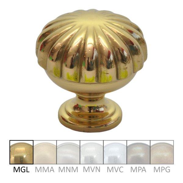 Möbelknopf aus Messing glänzend mit Schutzlack D: 30 mm Bild1