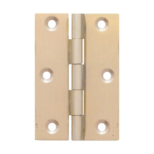Möbelscharnier Messing massiv a=50 mm, b=40 mm der Serie MB001 Bild1