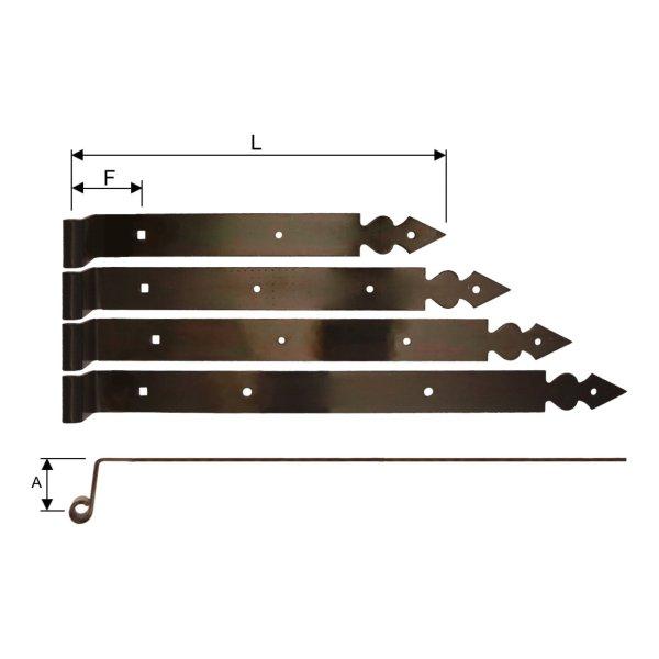 Langband, gekröpft, L=350, Dorn 10 mm der Serie FB001 Bild1