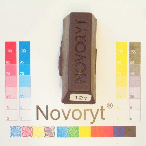NOVORYT® Schmelzkitt - Farbe 121 Schokolade 1 Stange der Serie HW003 Bild1