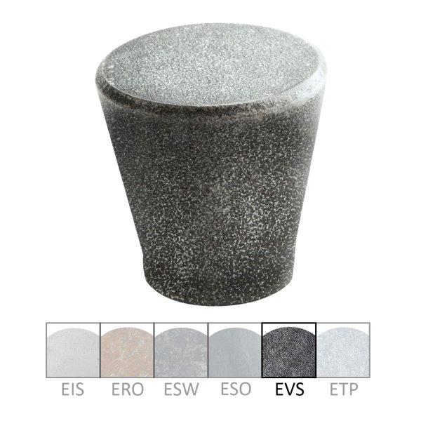 Möbelknopf in Eisen schwarz passiviert. D: 24 mm Bild1