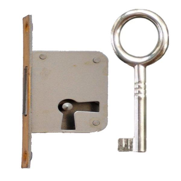 Einsteckschloss mit Messingstulp, Dornmaß 30 mm, rechts der Serie ES004 Bild1