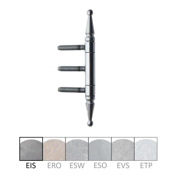 Einbohrband in Eisen, Denkmalzierkopf. Länge: 143 mm, Rolle: 13 mm. Bild1