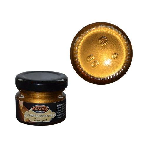 Gold-Creme 25 ml Gelbgold dunkel in Pastenform mit einer hohen Deckfähigkeit. Bild1