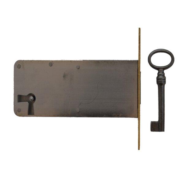 Einsteckschloss Messingstulp Dornmaß 80 mm Links der Serie ES006 Bild1