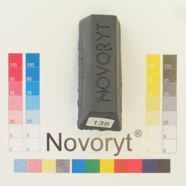 NOVORYT® Schmelzkitt - Farbe 138 schiefergra 5 Stangen der Serie HW003 Bild1