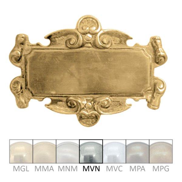 Namensschild für Gravur  Material: Messing  Maße: 190mm breit, 132mm hoch  Gravur auf Anfrage  Der Serie NS003  Bild1