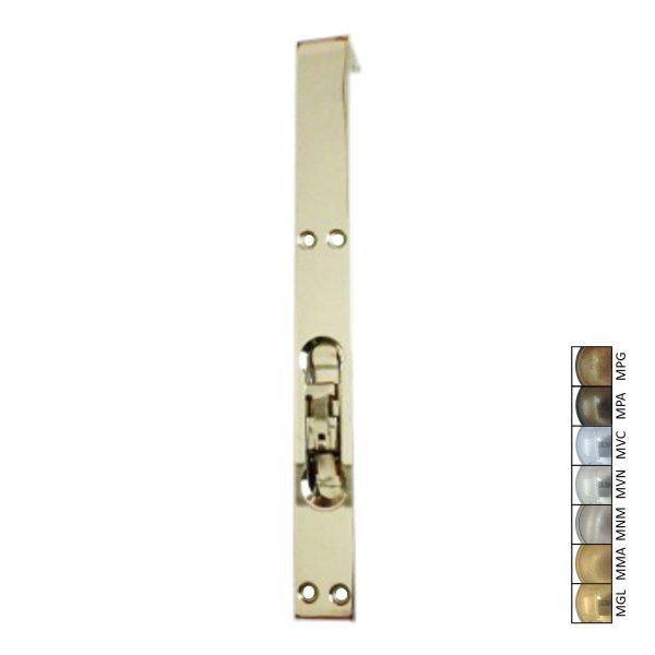 Schieberiegel, Türriegel für gefälzte Türen, Messing glänzend Bild1