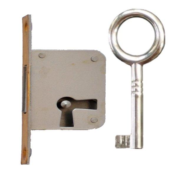 Einsteckschloss mit Messingstulp, Dornmaß 40 mm, rechts der Serie ES004 Bild1