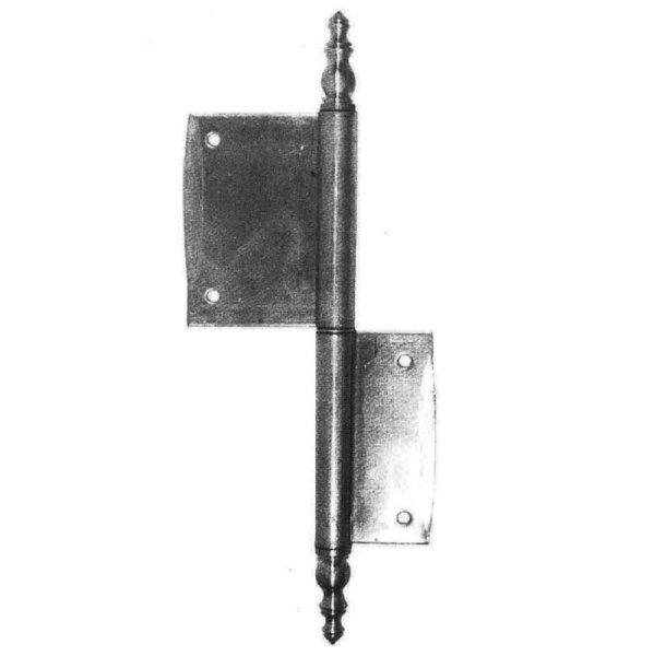 Möbelfitschband in Eisen/Messing. L: 50-120 mm Bild1