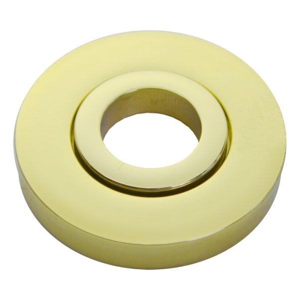 Drückerrosette Messing glänzend mit Schutzlack.D:50mm. Wagenfeld. Bild1