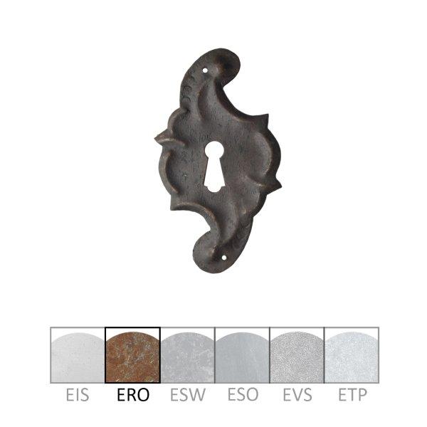 Schlüsselschild in Eisen rostig. 55x95 mm Bild1