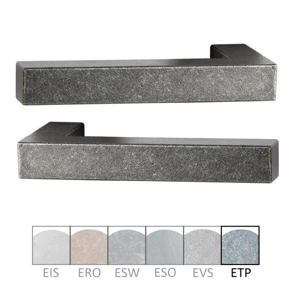 Türdrücker - Paar TD050 Eisen thermopatiniert ® Grifflänge:125 mm inkl. Zubehör Bild1