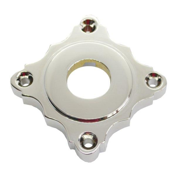 Drückerrosette(TD, WC) in Messing versch. Oberflächen. Maße: 65x65 mm Bild1